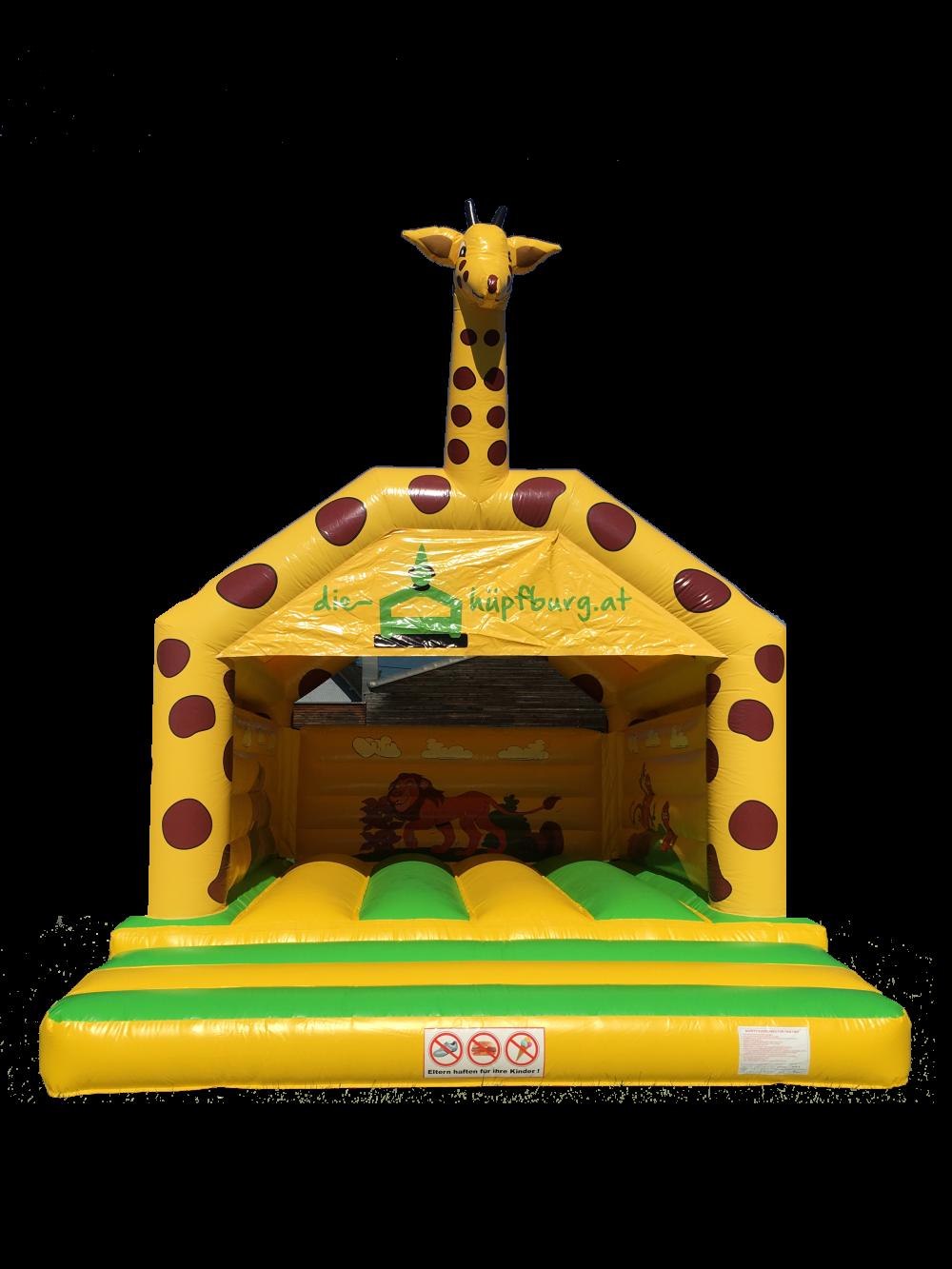 Hüpfburg Giraffe - Titelbild
